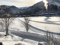 View from the Dinning Room overlooking the Cross Country Skiing Track