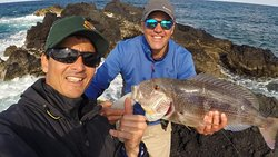 Great Dentex by our client. La Graciosa fishing guides.