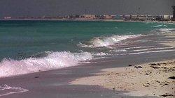 all'ingresso della meravigliosa spiaggia