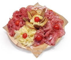 platter salami and cheese