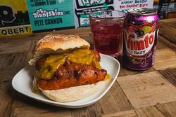 Meat Junkie Butty with Vimto by Jody Hartley Photography