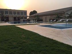 Inside outside Fraser suites in Abuja