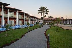 The lush garders and beautiful walk ways around the resort