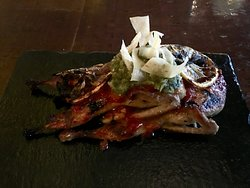 Quail with delicious combination of citrus and chile