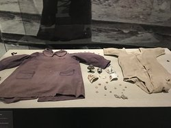 Baby's clothes before entering