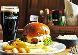 Come in and enjoy a delicious burger & pint