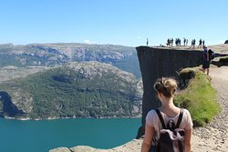 Der unglaubliche Blick vom Preikestolen in Norwegen.