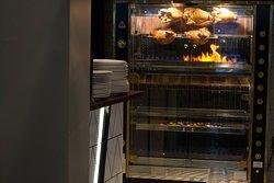 Rotisserie with Bresse organic chicken