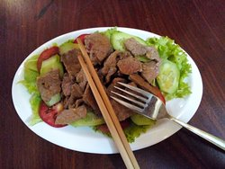 Lok Lak Beef salad from our restaurant