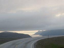 La strada per Capo Nord. A mezzanotte