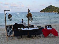 Grill am Strand im Buri Rasa Koh Phangan
