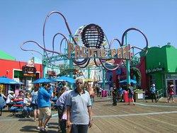 Entrance to Pacific Park - Santa Monica Pier