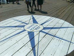 Eight-pointed blue and white star - Santa Monica Pier