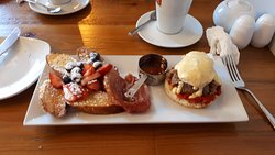 Breakfast Taster Platter - French Toast and Poached Duck Egg