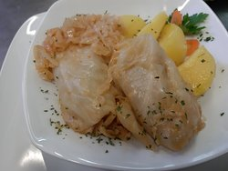 sarma - traditional winter dish made of cabbage filled with minced meat and rice