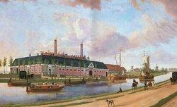 De eerst fabriek van Willem Albert Scholten te Foxhol