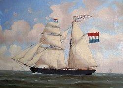 De 19de eeuw is de Gouden Eeuw voor de Groninger Veenkoloniën. Zeevaart, landbouw en de landbouwindustrie kwamen tot grote bloei. Schilderij De Alliantie uit Oude Pekela.