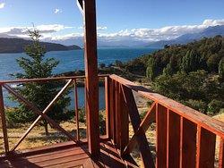 Balcón de la cabaña.