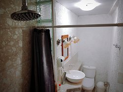Panoramic view of the bathroom of our room number 1
