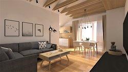 Apartament w skandynawskim stylu dla 4 osób.