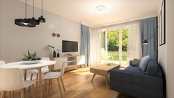 Apartament w skandynawskim stylu.