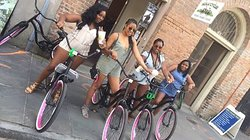 Enjoy a cycle ride with friends.