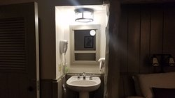 6144 Pedestal Sink in room not with shower and toilet.