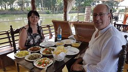 We enjoyed a two day cruise exploring the backwaters around Alleppey.  There was just the two of us and the two crew.  We were looked after very well.