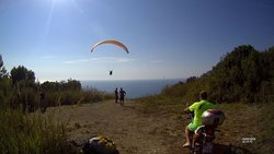 tandem flight at kontogialos beach