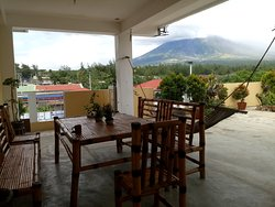 Dining with the view of mt. Mayon volcano