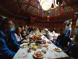 Dinner in a yurt