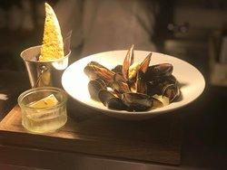 Mussels starter, always a favourite