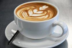 Enjoy a latte at the coffee bar 8am-11am Mon-Fri
