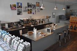 Inside the coffee bar