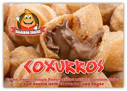 Coxurros is our famous Brazilian Chocolate Croquette