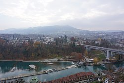 View of Bern from the top of the bell tower.