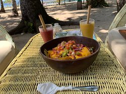 Plant based food with a view