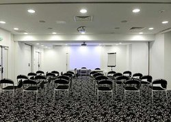 Meeting room with classroom-style setup