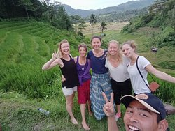 Those of the picture were our treking..  It was really awesome