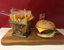 Classic Cheese Burger Meal served in The Hollywood Bar & Diner