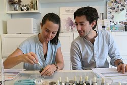 Making-of wedding perfume for the French couple