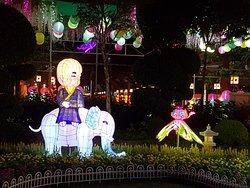 child riding elephant character