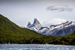 View From our Boat - Lago del Desierto - Fitz Roy