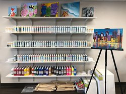 Over 100 underglaze ceramic bisque paints to choose from.