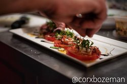 Herbs, spice infused salts, and finishing sugars. Whatever the finishes may be, the flavor is in Chef Michelangelo's dishes. Attentive to his work, flavors, and creations, Corx is his home.