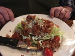 wedge salad LOADED with goodness
