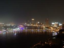 Nile and city at night
