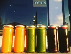 House made cold pressed juices....