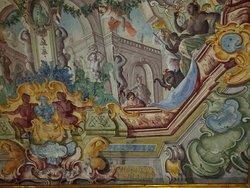 Palazzo Pantaleo, decorazioni nel salone di rappresentanza.