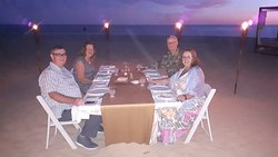 Private Romantic dinner on the beach with friends